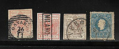 1850 Austrian Italy Stamps Used