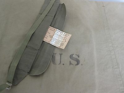 US Army Pioneer Service Money Belt Dokumenten Gürtel Airforce USMC Navy WK2 WWII