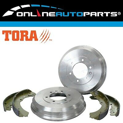 2 Rear Brake Drums + Shoes Kit Holden Rodeo RA 2003 to 2008 TFS77 4X4