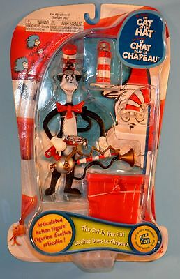 The Cat in the Hat Articulated Action Figure Dr Seuss MOSC Play Along 2003