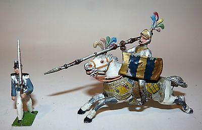 Heyde or Other German Maker's Large Scale Mounted Knight