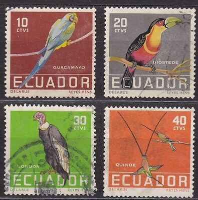Ecuador #634-637 Used Complete Set Of Birds