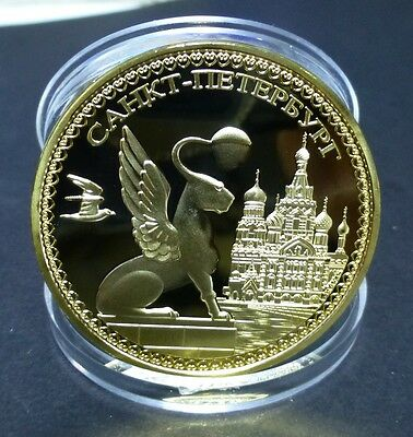 Russian 1 Oz 0.999 Gold Plated Souvernir Coin