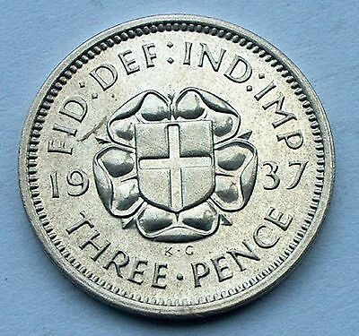 British - 1937 George VI Silver Three Pence - Proof issue