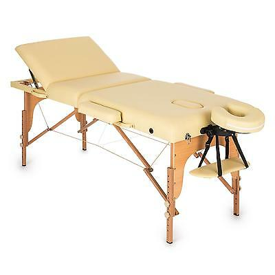 Klarfit MT 500 Table de massage pliante 210 cm 200 kg mousse à cellules fines ho
