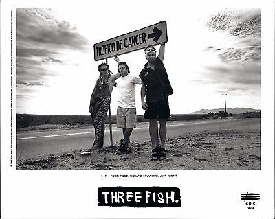Three Fish, COOL official 8x10 press photo! 1996 portrait, Jeff Ament, Pearl Jam