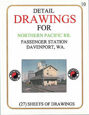 Drawings of the Northern Pacific RR Davenport, Wa. Passenger Station