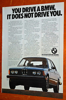 1977. Bmw 320I Coupe American 70S Ad - You Drive A Bmw It Doesnt Drive You