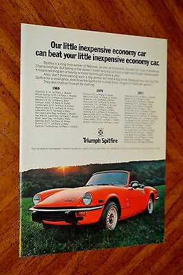 Beautiful 1972 Triumph Spitfire Convertible In Red Ad - Vintage 70S British Auto