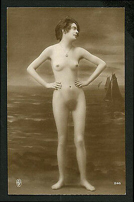French YOUTHFUL Very Thin NUDE An UNUSUAL Model Agelou 1915 ~ PARIS Latest!