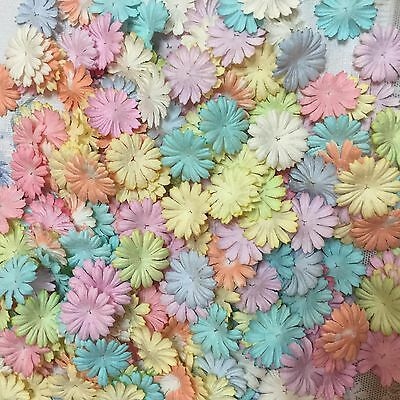 50 Pastel Daisy Flowers Mulberry Paper for Craft & D.I.Y. Scrapbook