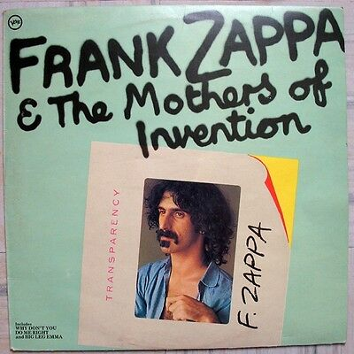 Frank Zappa & The Mothers-Frank Zappa & The Mothers Of Invention LP-Verve Record