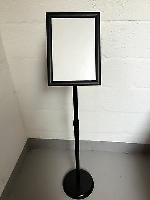 A3 Black Floor Menu Snap Frame Stand