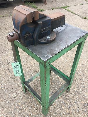Steel Stand With Record No 4 Vice Attached