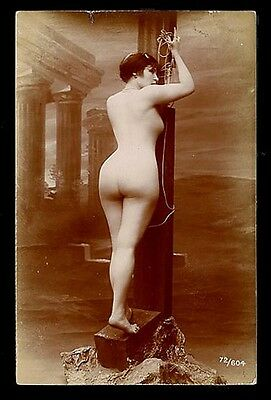 French YOUTHFUL Nude SUBMISSIVE Printing-Out-Paper Agelou 1915 ~ PARIS Latest!