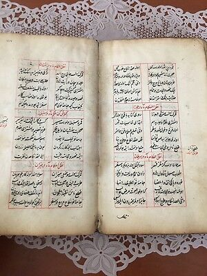 ANTIQUE OTTOMAN TURKISH HAND WRITTEN w ISLAMIC CALLIGRAPHY BOOK
