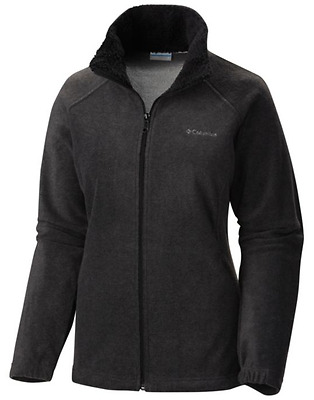 Columbia Dotswarm II Fleece Full Zip, Womens Fleece Sweater, Charcoal Heather XS