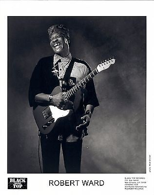 Robert Ward, CLASSIC official 1992 8x10 press photo! blues and R&B guitar great