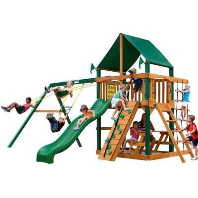 NEW Gorilla Playsets Chateau with Timber Shield and Sunbrella Canopy Swing Set