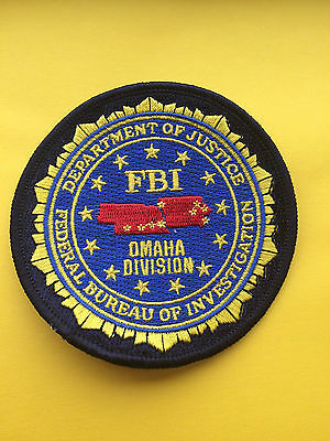 Omaha FBI Federal Bureau Of Investigation Division Patch.