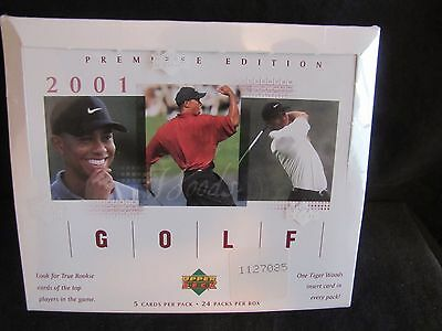 RARE- 2001 UPPER DECK PREMIERE EDITION GOLF TRADING CARDS - Factory Sealed Box