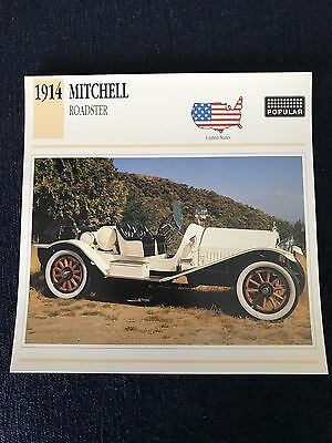 1914 Mitchell Roadster Photo & Specs Card Atlas Classic Cars Card