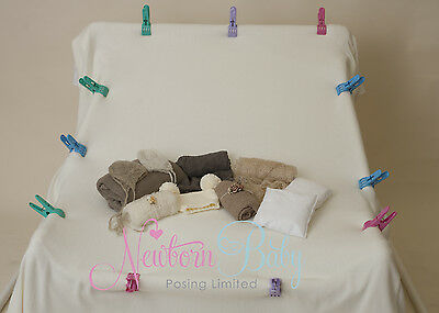 Newborn Baby Posing beanbag and frame delux bundle (includes accessories too)