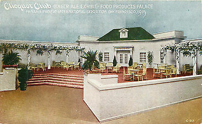 Panama Pacific International Exposition, Clicquot Club, Vintage Postcard