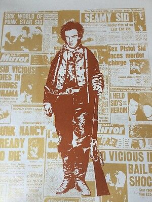 Sid Vicious Sex Pistols  Art Print Signed & Numbered From An ED OF 8