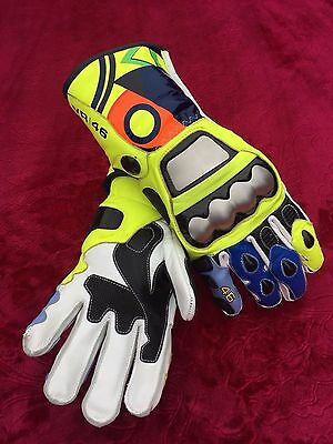 Valentino Rossi 2017 Racing Gloves VR|46 Motorbike Leather Gloves