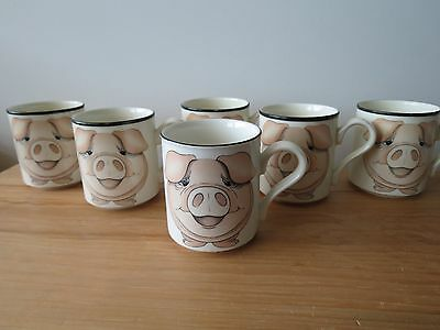 Arthur Wood 'Front to Back' Pig Teapot & Tea/Coffee Mugs