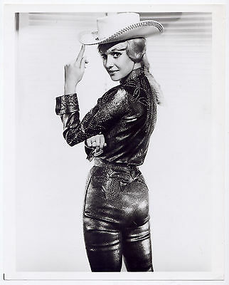MOLLY BEE vintage 8x10 photo COWGIRL LEATHER *RARE* 1960s Country Music TV star