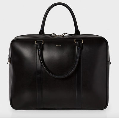 Paul Smith Bag -NEW Black Leather 'City Embossed' Business Weekend Bag /RRP:£595