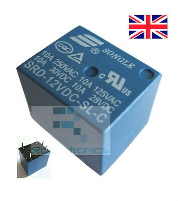 New 12VDC Coil 5 Pin SPDT Relay PCB 10A 28VDC 125VAC - Free Postage High Quality
