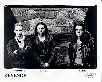 Revenge, TWO 8x10 GLOSSY press photos! Peter Hook, New Order, Joy Division, 1990