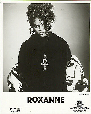 Roxanne, The Real Roxanne, RARE official 8x10 press photo! record company GLOSSY