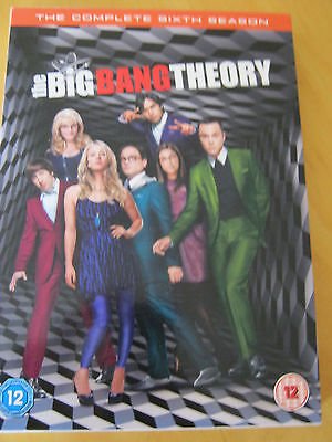THE BIG BANG THEORY SERIES 6-COMPLETE (DVD, 2013, 3-Disc Set, Box Set)-VGC