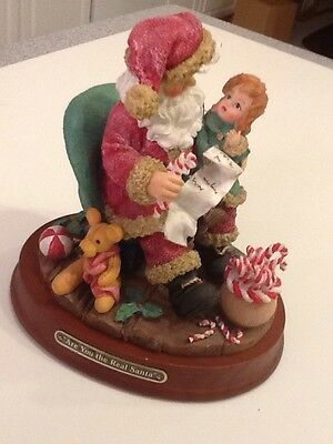 """Timeless Treasures Collectibles """"Are You The Real Santa"""" For Hills Dept Store"""