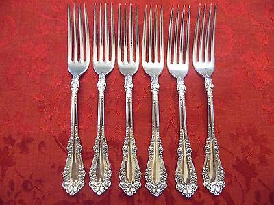 1847 Rogers Bros Berkshire Silver Plate Ornate Dinner Fork  Lot of 6