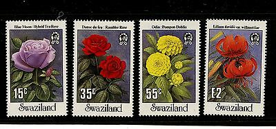 Swaziland #523-526 (SW803) Comp 1987 Flowers, Perf 14 1/2, MNH, VF