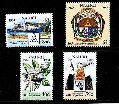 Nauru #343-346 (NA793) Complete 1988 National Independence 20th Anniv,MNH,VF