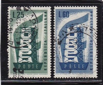 ITALY #715-716 USED EUROPA CEPT 1956 1st ISSUE