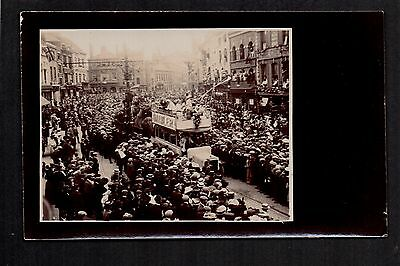 Coventry - Arrival of the Circus? - real photographic postcard
