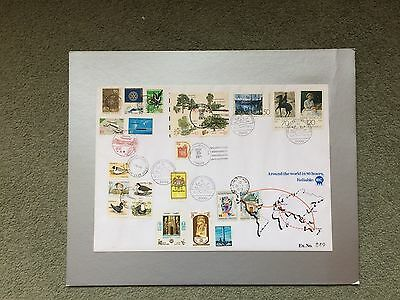 Stamp Cover - International 'Around the World in 80 Hours' Limited Edition