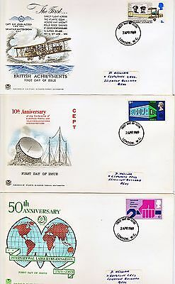 First Day Cover 02/04/1969  Notable Anniversaries 5 Individual Items Of Set