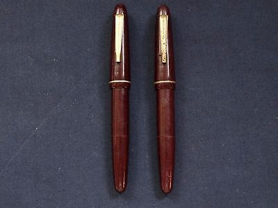 VINTAGE FOUNTAIN PENS SUPER 2pcs VERY RARE BAKELITE PENS ! (No.OCT)