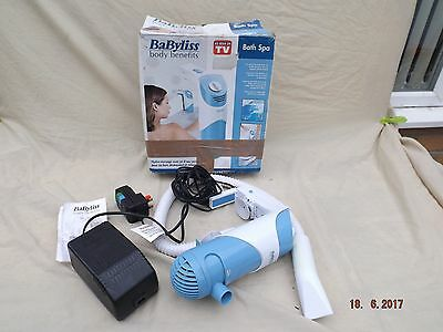Babyliss Bath Jet Spa,easy Mount To Bath Edge,adjustable Jet Direction,bubbler,