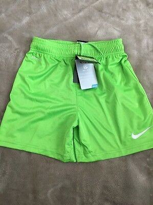 Nike Dri-fit Boys, Bright Action Green Shorts Size Small Age 8-10 Yrs NEW