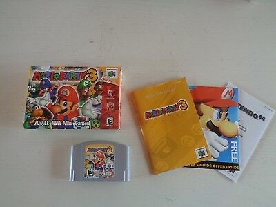 Mario Party 3 (Nintendo 64, 2001). Complete in Box. Excellent Shape. N64.