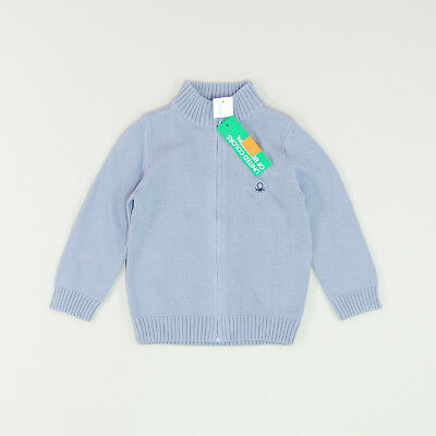 Cárdigan color Azul marca Benetton 18 Meses